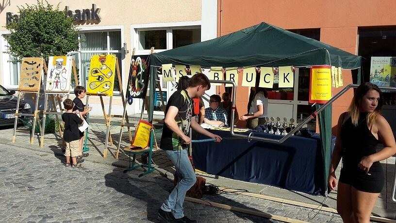 Bürgerfest-Stand in Bruck