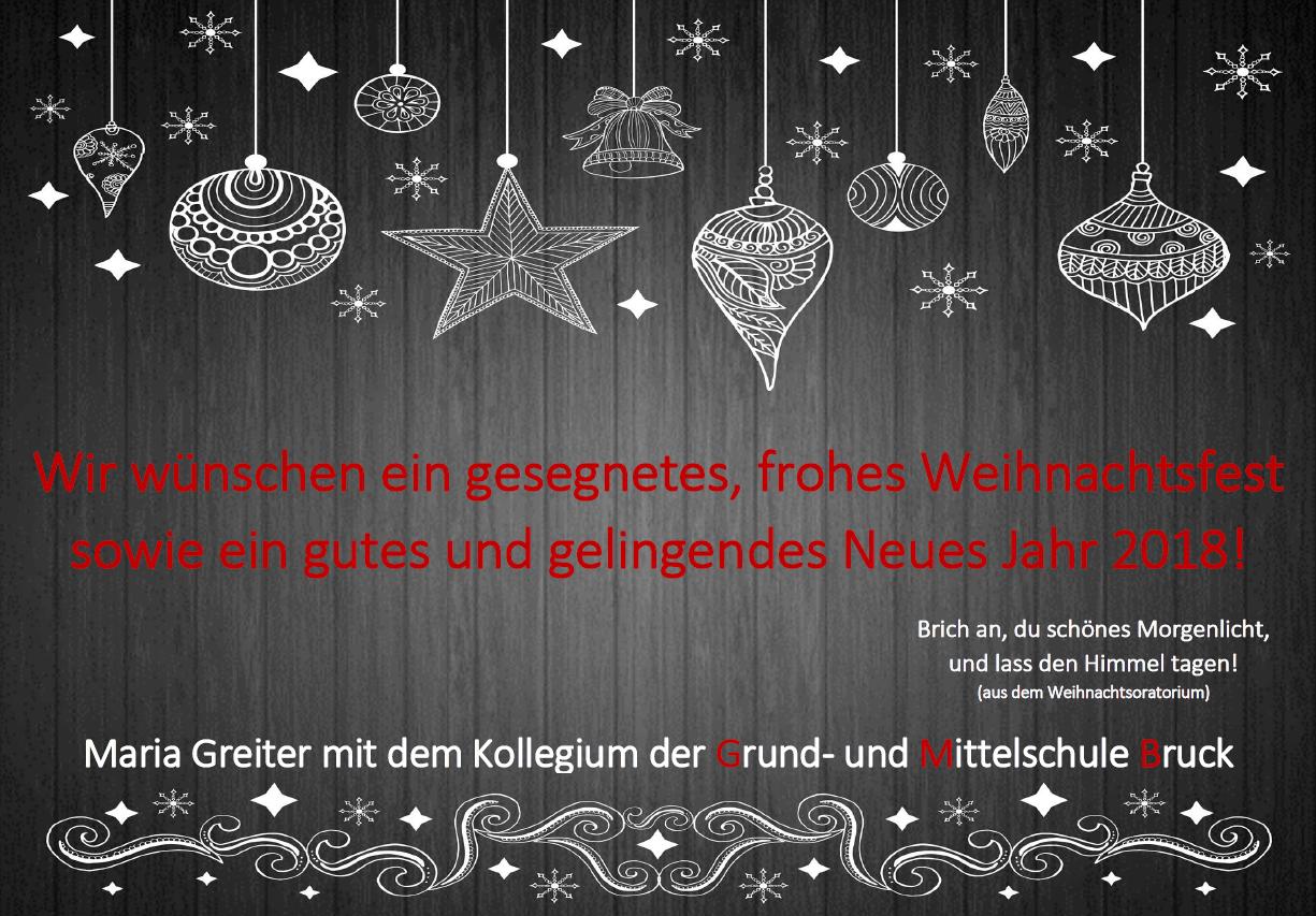 Frohe Weihnachten und ein gutes Neues Jahr 2018